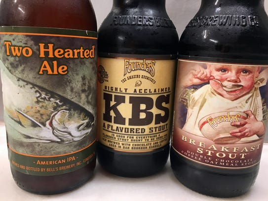 Two Hearted Ale by Bell's Brewery of Comstock; and