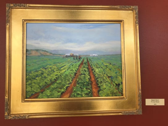 A painting of a field decorates the hallways of Natividad