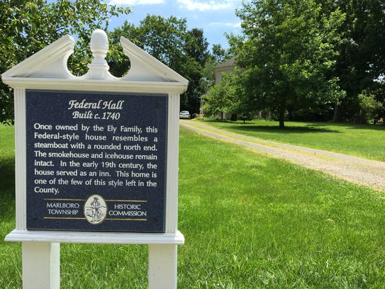 Sign in front of Federal Hall in Marlboro, a possible