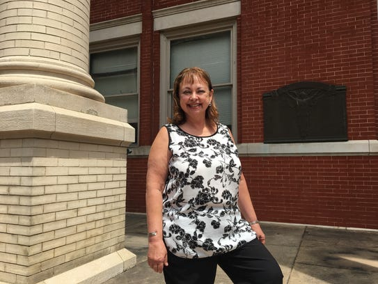 Pam Carter, of Swoope, poses for a photo in front of