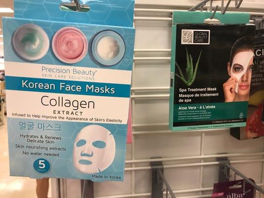 Korean sheet masks found at Marshall's