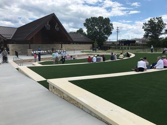 The new Johnson Controls Community Amphitheater provides