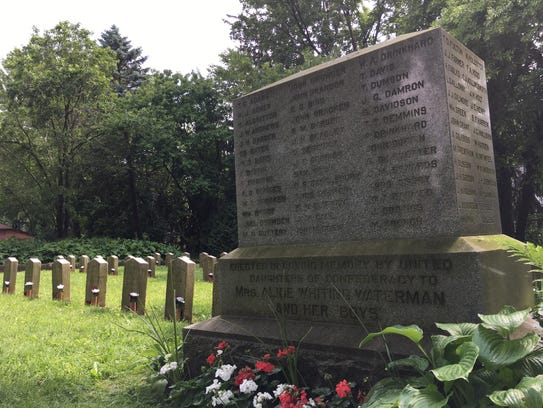 Confederate Rest monument at Forest Hill Cemetery in