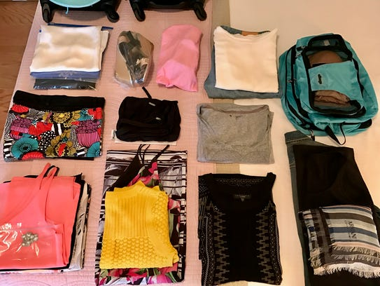Laying out your clothes will help you visualize how