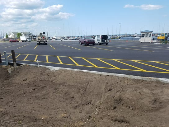 Construction is finishing up at the South Shore Beach