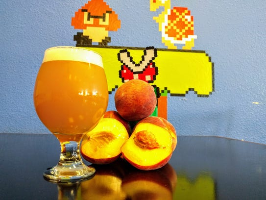 The Princess Peach Double IPA at 8-Bit Aleworks is
