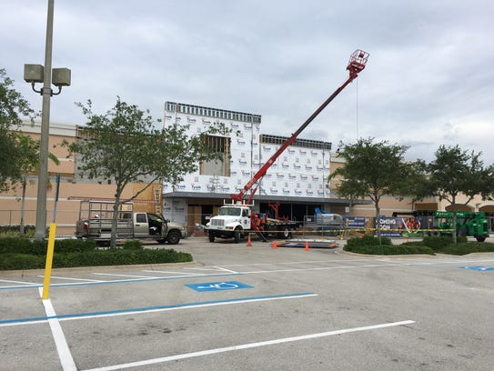 An Aldi store under construction earlier this year
