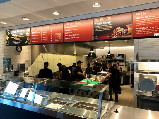 Staff at work at Chipotle Mexican Grill in Fishkill.