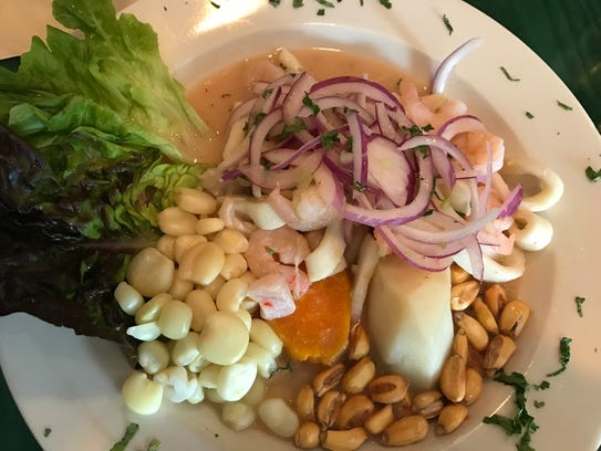 Ceviche from Sabor Peru in Rutherford.