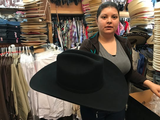 Sales associate Irene Aguilera of El Primo Western