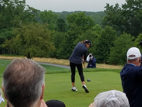 Naples' Emma Bradley tees off No. 1 in the second round