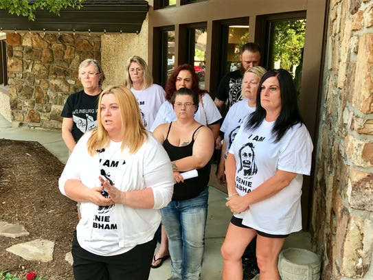 Members of the Gatlinburg Wildfire Survivors group,