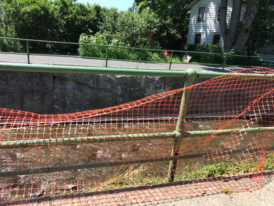 The rail along Cascadilla Avenue is in bad shape and