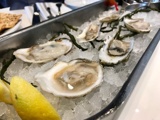 A selection of cold-water oysters from Izzy's Fish