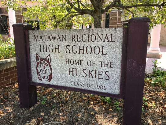 Matawan Regional High School's sign is shown on July