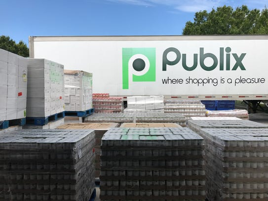 Second of two Publix trucks to be unloaded at House