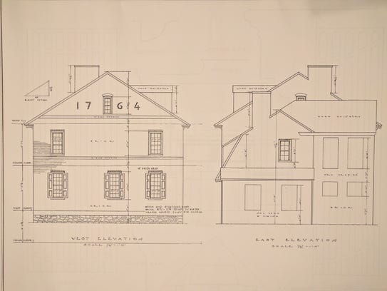 Architectural blueprints of the  Hugg-Harrison-Glover