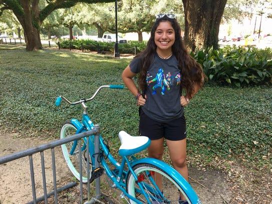 Beth Saida, 19, a sophomore nursing major from Alexandria,