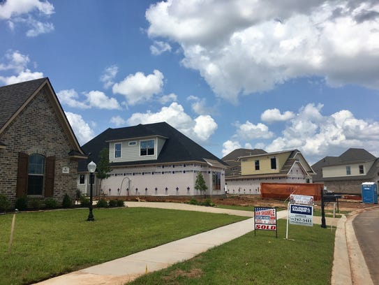 New home construction in North Bossier City.