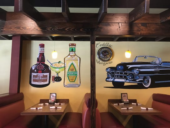Murals painted by Lisa Kelly at Yolanda's Mexican Cafe