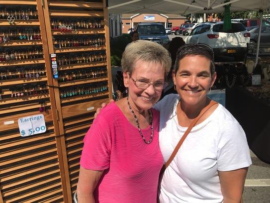 Glenda Mazza and Chris Roman shopping at Spencerport
