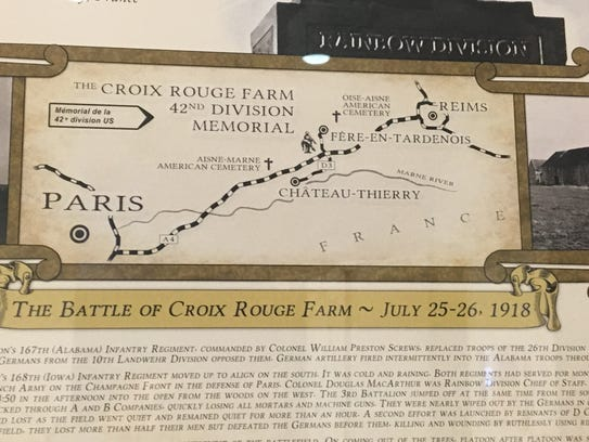 Map of the Battle of Croix Rouge Farm.
