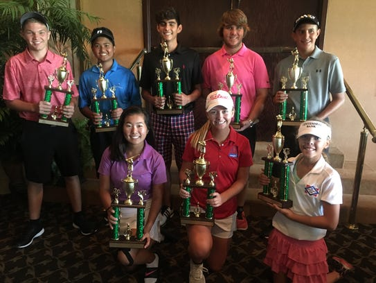 Winners honored during the First Tee Junior Tour's