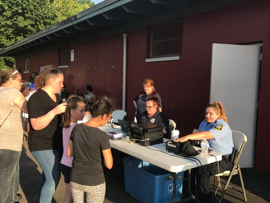 Members of the Bloomfield Police Department create