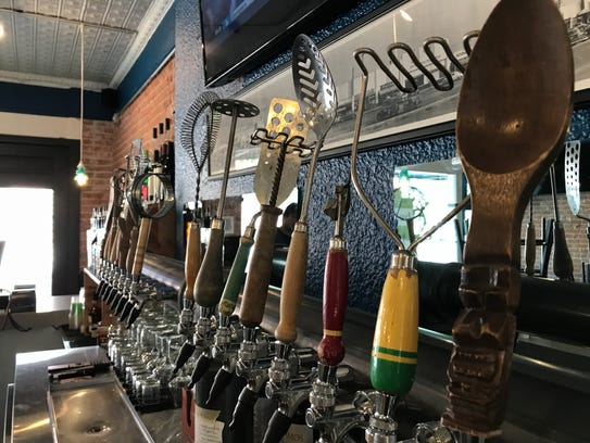 The tap handles at Crafted are made out of antique