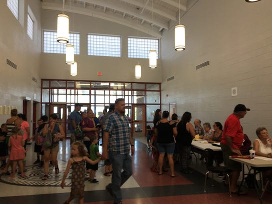Hundreds of parents and students attended an open house