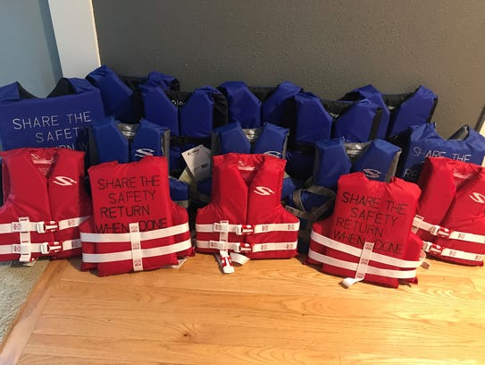 Life jackets to be shared.