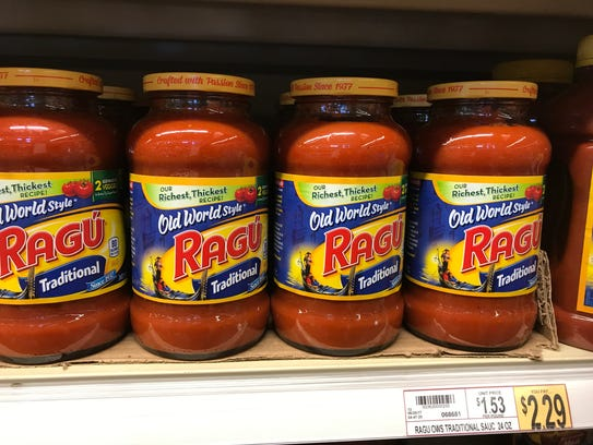 Ragu 24 ounce $2.29 in store and $2.59 online