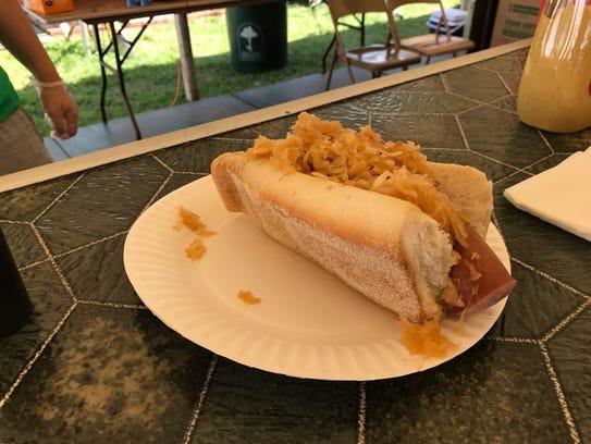 You can get kielbasa and sauerkraut at the Somerset