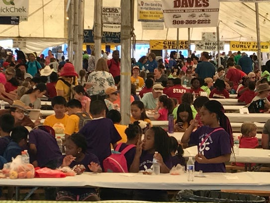 The food tent at the Somerset County 4-H Fair on Wednesday