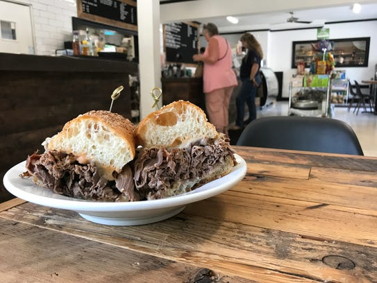 The Hot Roast Beef sandwich at Hartell's Deli in Nyack
