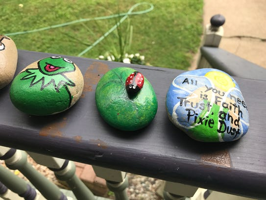 Painted rocks are hidden throughout Wisconsin Rapids.