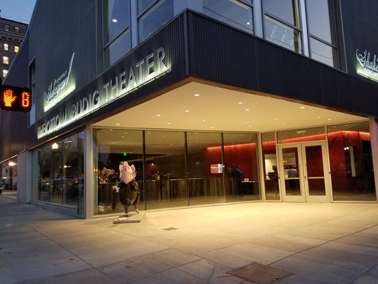 The exterior of the $17.5 million Otto M. Budig Theater,
