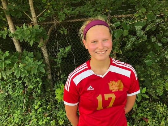 Mater Dei senior midfielder Anna Claybon