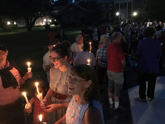 Teaneck Women Together held a candlelight vigil on