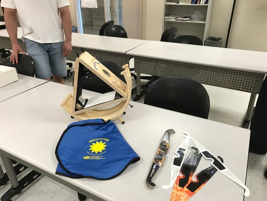A sunspotter telescope and certified glasses are safe