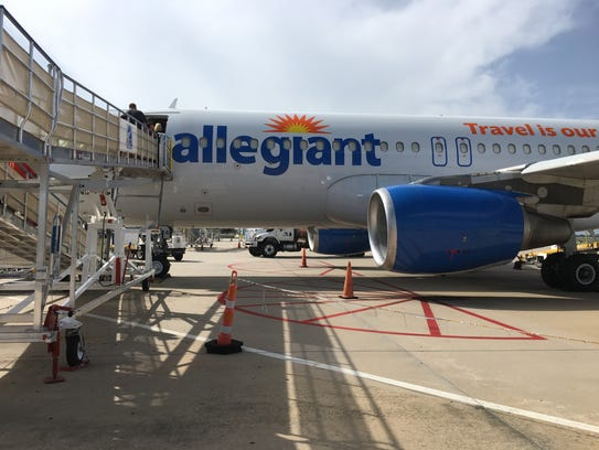 Passengers board an Allegiant Air flight at Punta Gorda
