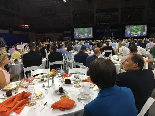 About 500 people heard U.S. Agriculture Secretary Sonny