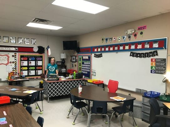 Jackie Evatt's third-grade classroom at Lamar Elementary.