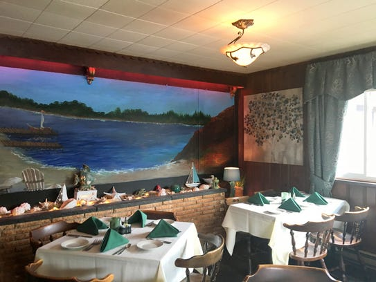 A mural in the dining room.