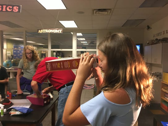 Sixth-graders at Gemini Elementary create safe eclipse
