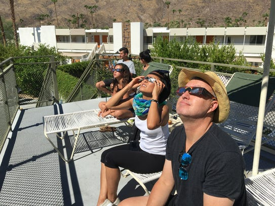 """An El Segundo family watches the """"Great American Eclipse"""""""