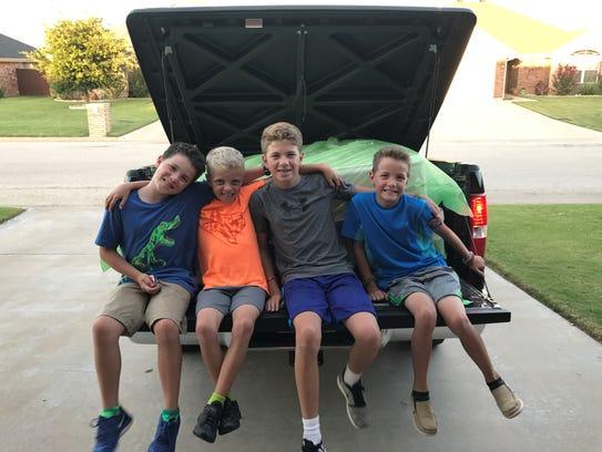 Brothers Austin, Max, Nicholson and Zane Smith pose