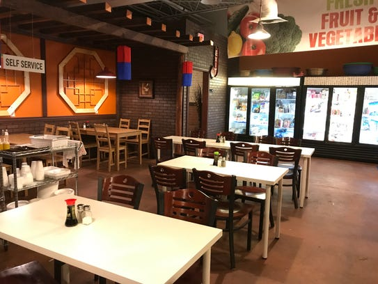 Diners can shop for ingredients and specialty kitchen