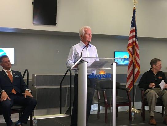 Allegiant Travel Co. President John Redmond addresses