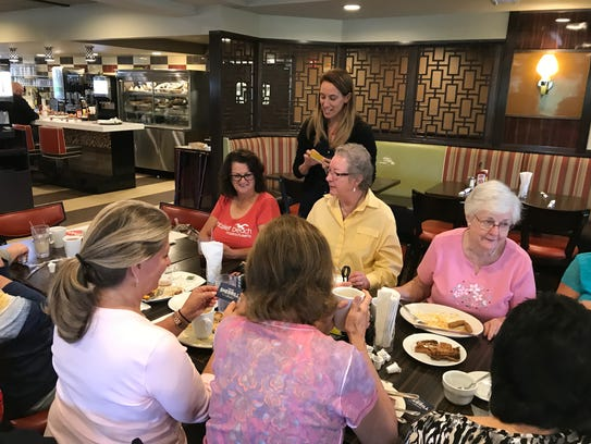 Mikie Sherrill, left, Democratic candidate for Congress